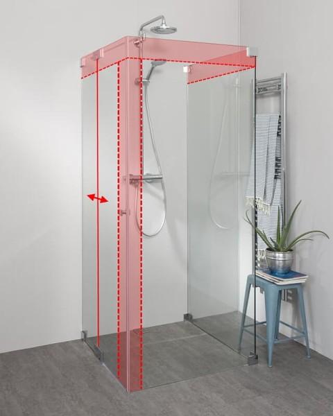 Duschkabine U Form mit Pendeltür Seiteneinstieg nach Maß