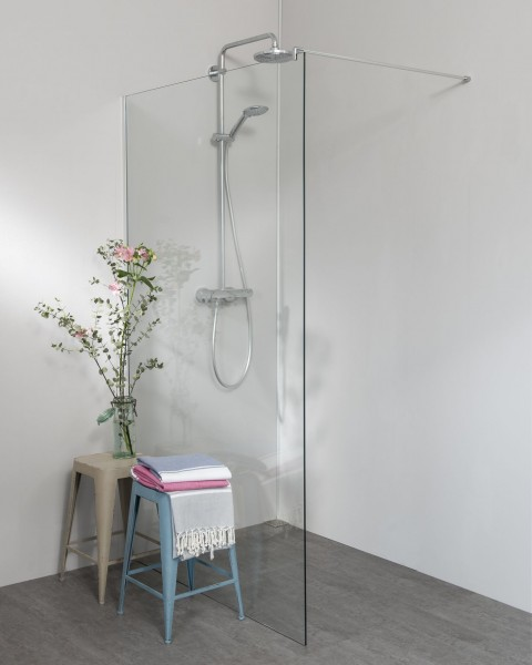 Begehbare Dusche: Seitenwand Dusche alleinstehend, extrabreit