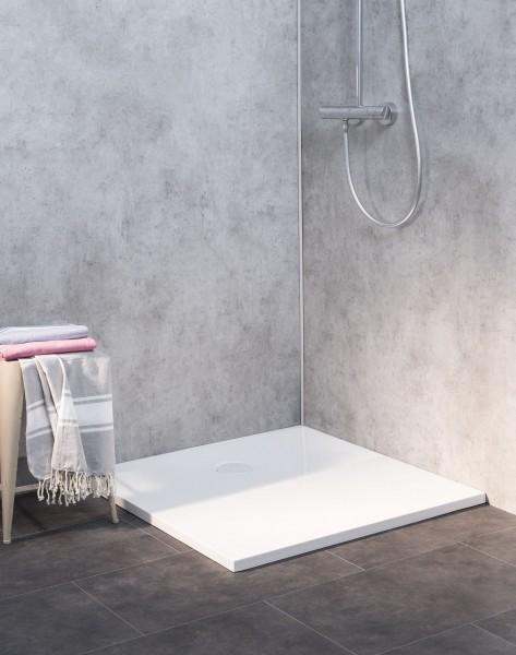 Duschboden-Element weiß bodengleich ebenerdig 90x90cm H=3,0cm mit Ablauf weiß