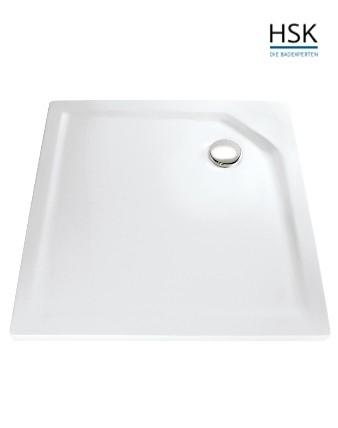 HSK Duschwanne quadratisch 80x80cm H=3,5cm Acryl weiß