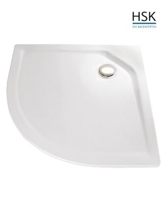 HSK Duschwanne Viertelkreis 80x80cm H=3,5cm Acryl weiß