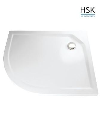 HSK Duschwanne rund 90x80cm rechts H=3,5cm Acryl weiß