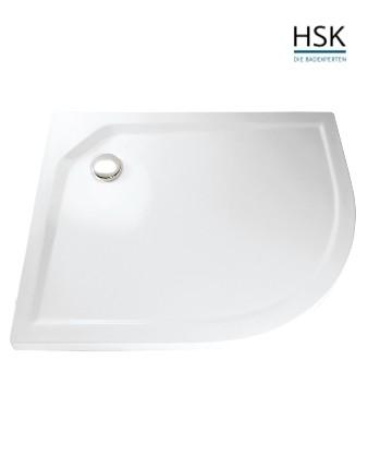 HSK Rund-Duschwanne links 80x90cm H=3,5cm Acryl weiß