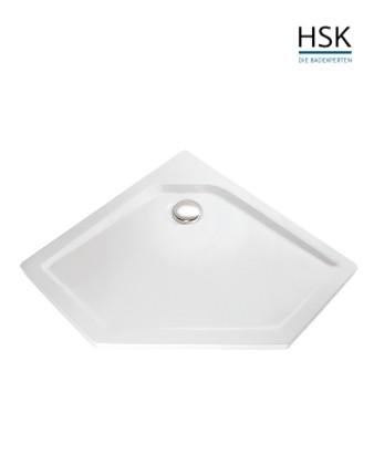 HSK Duschtasse Fünfeck 100x100cm H=3,5cm Acryl weiß