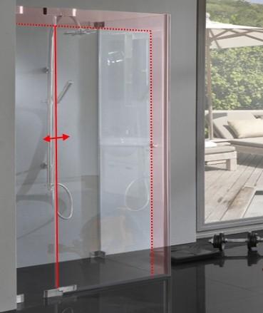 Dusche Glas Sondermaß Pendel Drehtür