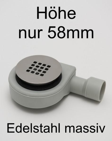 Duschablauf flach für Duschwannenablauf D=90mm