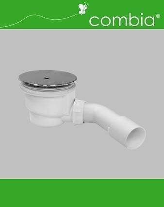 Ablauf-Garnitur Siphon, weiß, für Duschwannen-Ablauf D=90mm