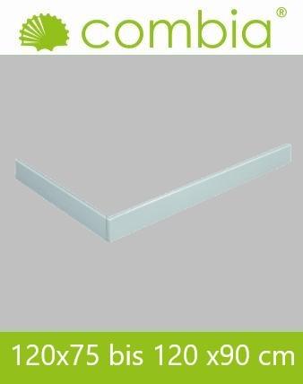 Schürze für Duschwanne weiß Rechteck 120x90cm