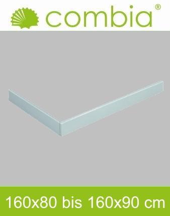 Schürze für Duschwanne weiß Rechteck 160x90cm