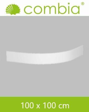 Schürze für Duschwanne weiß Viertelkreis 100x100cm
