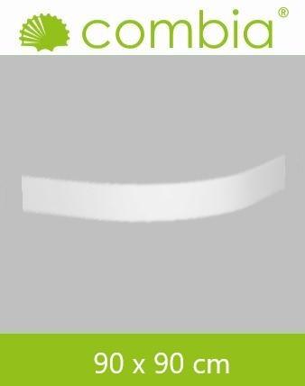Schürze für Duschwanne weiß Viertelkreis 90x90cm